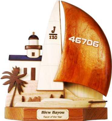 j120 sailing boat trophy