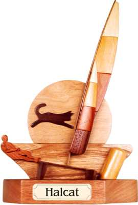 Halcat sailing trophies
