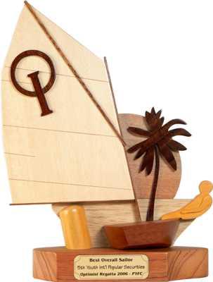 tropical optimist sailing boat