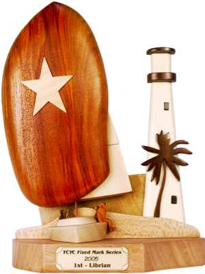 Biscayne Bay Florida map trophy design