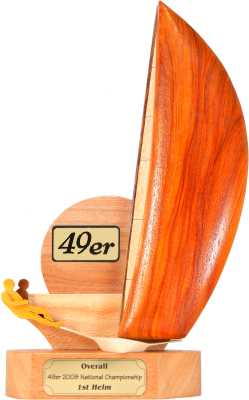 assymetric dinghy trophy design