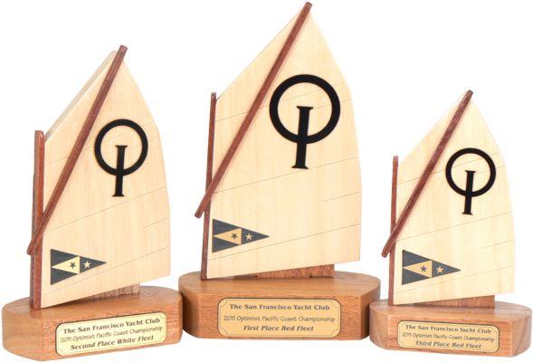 optimist sail trophies