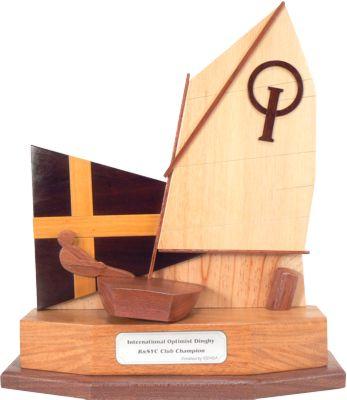 Optimist burgee boat trophy