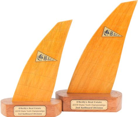 windsurfer sail trophies