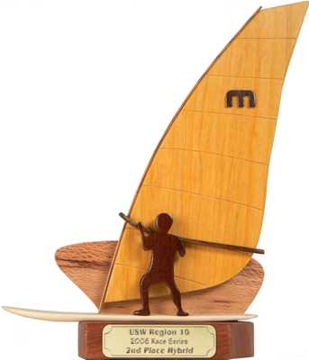 single sailboard trophy