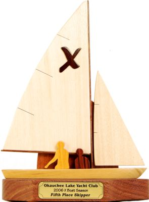 x boat sailboat trophy
