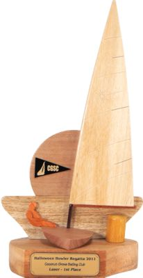 Coconut Grove Laser Sailing Trophy Front