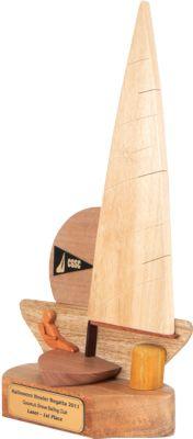 Coconut Grove Laser Sailing Trophy Port Side