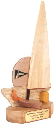 Coconut Grove Laser Sailing Trophy Starboard Side