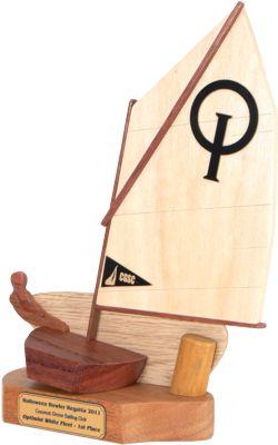 Coconut Grove Optimist Sailing Trophy Port Side