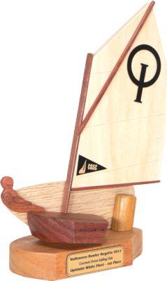 Coconut Grove Optimist Sailing Trophy Starboard Side