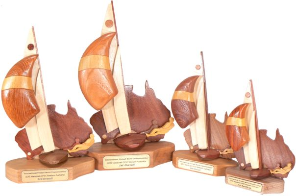 Fireball World Championship Trophies in Four Different Sizes