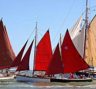 Old Gaffer Sailing Boats