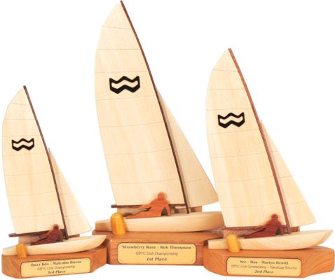 1st, 2nd and 3rd Place Windrush Sailing Trophies