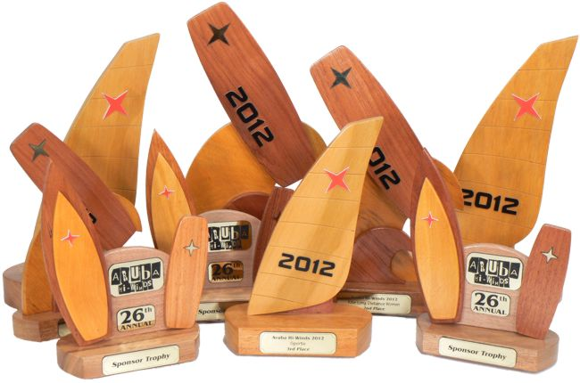 windsurfer kite surfer sponsor trophies