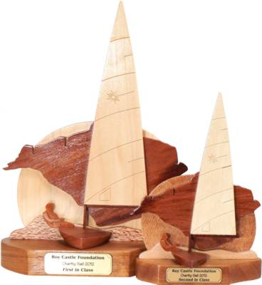 Charity sail Isle of Wight Laser Trophies