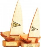 Generic Dinghy Sailing Trophies with club burgee